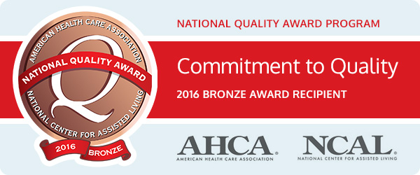 National Quality Award Program 2016- American Health Care Association - Commitment to Quality - AHCA, NCAL